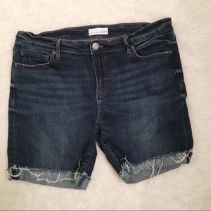 LOFT Denim Raw Hem Bermuda Shorts Size 10